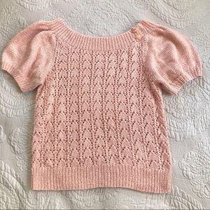 Vintage peachy 🍑 pink babydoll sleeve sweater